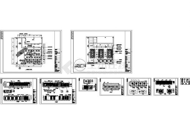 酒店西餐厅室内装修设计cad施工图-图二