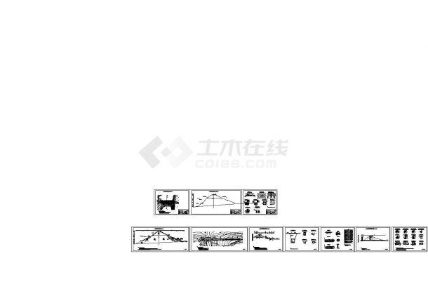 [四川]中型水库除险加固工程施工图(大坝 溢洪道)-图一