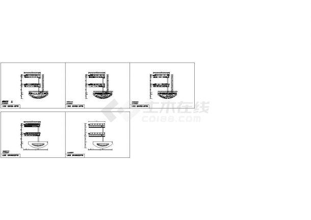 某材料学院全套建筑设计方案cad图纸(含屋顶平面图,设计说明)-图一