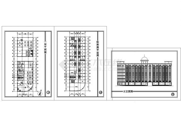 某欧式宾馆建筑设计方案cad图纸-图一