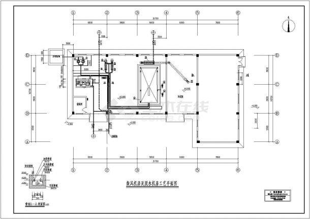 脱水机房工艺施工cad图(含平面布置图)-图一