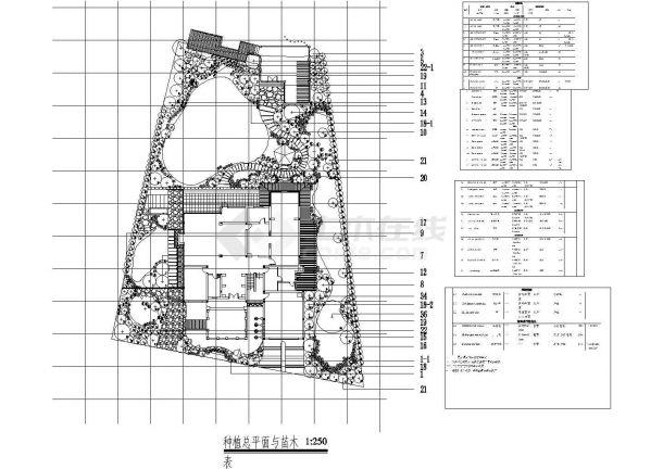 庭院绿化设计cad图(含平面布置图)-图一