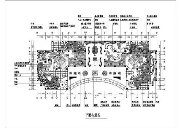 某屋顶花园设计cad图(含平面布置图)-图一