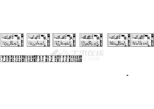 [深圳]联排叠拼多户型高档住宅小区给排水竣工cad图纸(太阳能系统 中水系统)-图一
