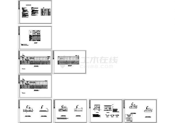 变电站柴油发电机房设计CAD施工图-图一