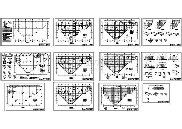 南京局部4层框架农贸市场结构设计施工图-图一