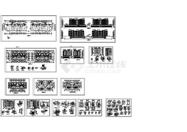 某小高层框架结构住宅楼设计cad全套建筑施工图纸(标注详细,13张图)-图一