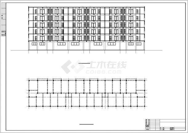 3700平米六层商住楼建筑结构毕业设计图纸(含计算书)-图二