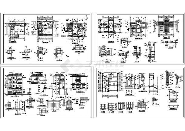 某四层现代风格别墅建筑施工CAD图纸(负一层)-图一
