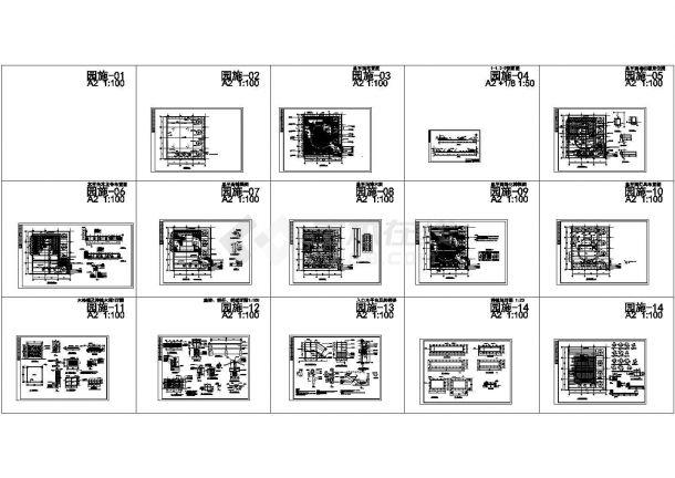 上海郊区别墅屋顶花园施工CAD图纸-图一