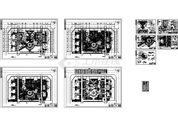 某休闲公园园林景观施工CAD图-图一