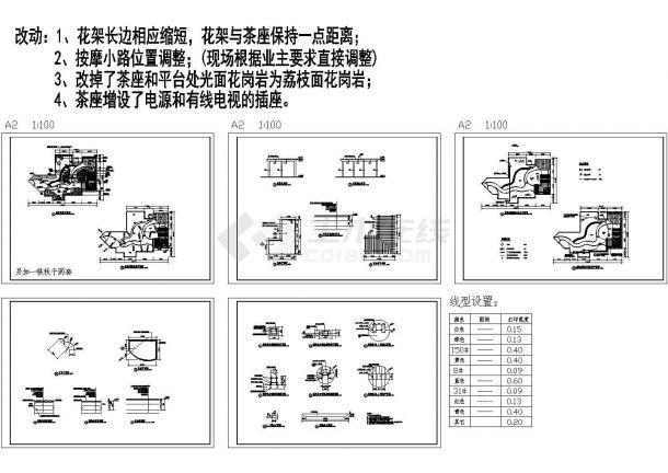 无锡某别墅屋顶花园施工设计CAD图纸-图一