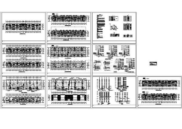 某六层带阁楼商住楼电气施工CAD图(二路低压电源)-图一