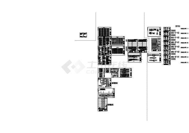 高层办公楼暖通空调设计施工CAD图-图一