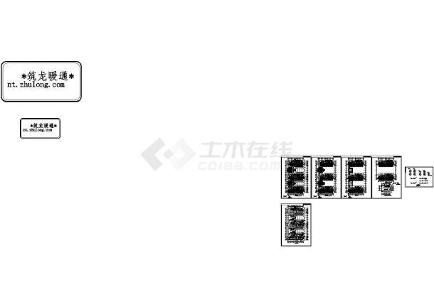 [山东]敬老院扩建项目地板辐射采暖系统施工图(采暖,冷热源)-图一
