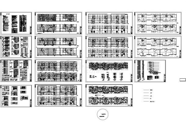 某带有楼宇对讲门锁的高层住宅楼电气施工图纸-图一