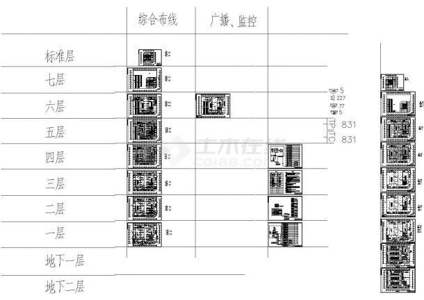 科技商业综合楼CAD电气设计图-图一