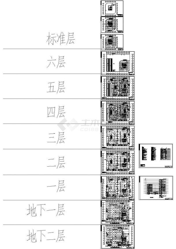 科技商业综合楼CAD电气设计图-图二