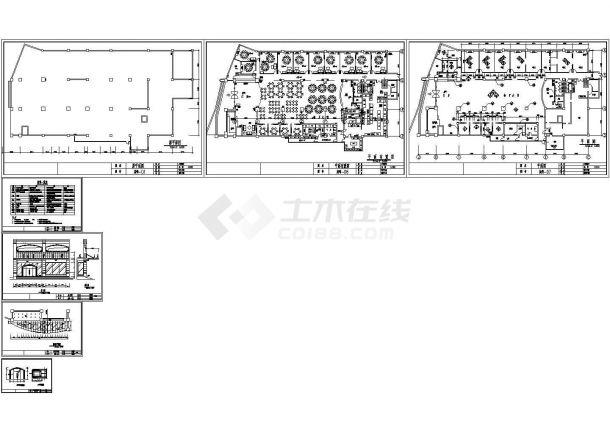上海某酒店餐饮空间室内装修图纸-图一