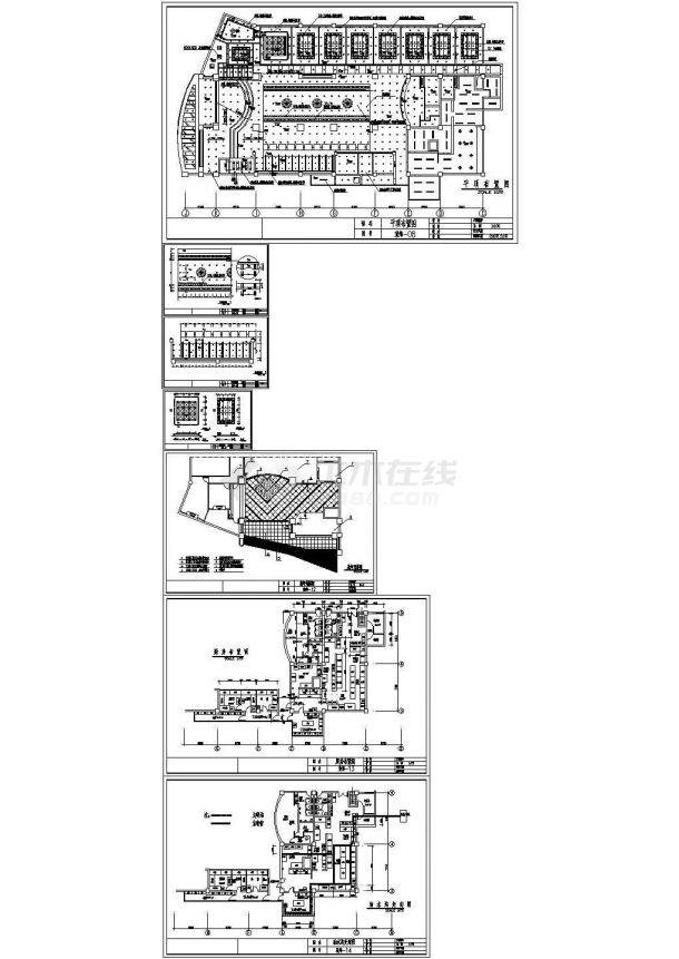 上海某酒店餐饮空间室内装修图纸-图二