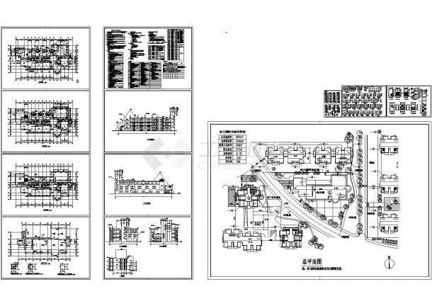 2528平方米三层幼儿园教学楼设计建筑施工cad图,共十三张-图一