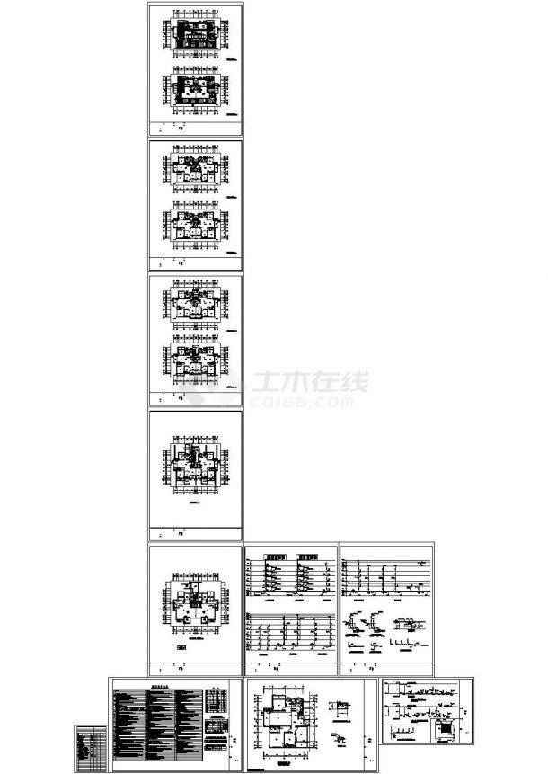 某六层框架结构住宅楼给排水设计cad全套施工图(含设计说明)-图一
