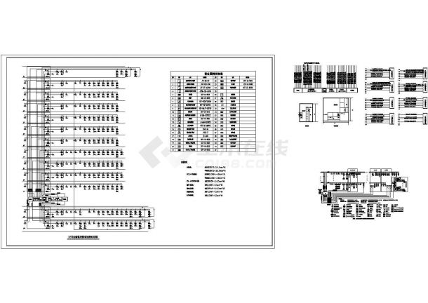 经典火灾自动报警及消防联动控制系统设计cad图(甲级院设计)-图一