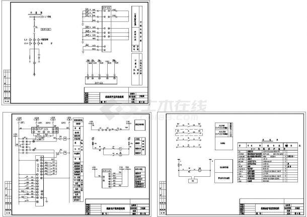 经典电气方面cad图纸,含电气原理图-图二