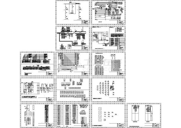 电厂柴油发电机电气原理竣工图纸-图一