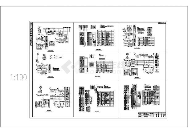 长春某高层会所电气施工CAD图-图二