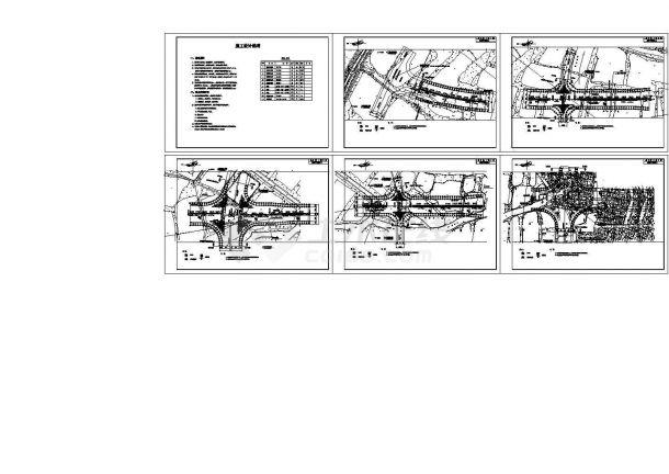 某城市新城区道路绿化带详细景观设计及灌溉设计图-图一