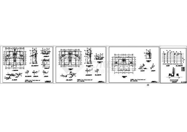 长20.6米 宽14.3米 7层(1梯2户)小区住宅楼水施【各层给排水平面 厨卫给排水大样及透视 污水雨水空调排水生活给水系统图】,共4张图纸-图一