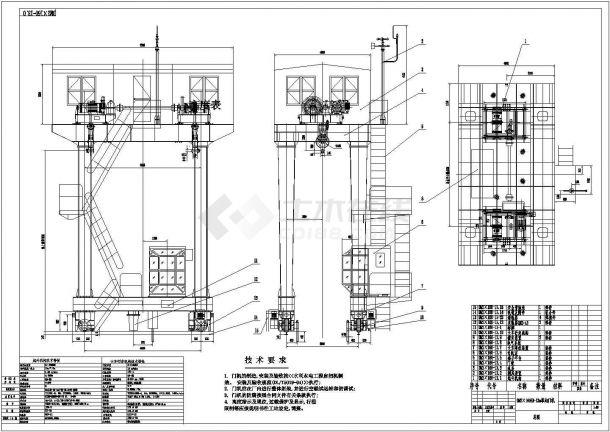 水电站金属结构安装工程施工图-图一