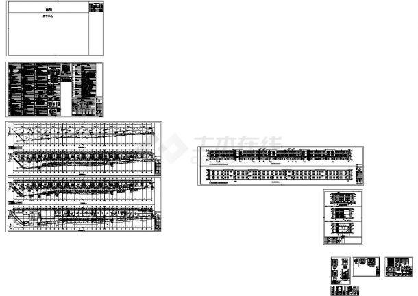 3层钢混框架结构改造加固设计建筑结构施工cad图,共十三张-图一