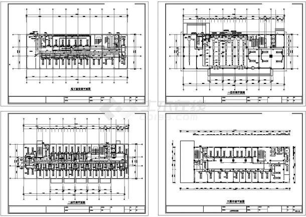 综合办公楼暖通空调设计cad施工图-图一