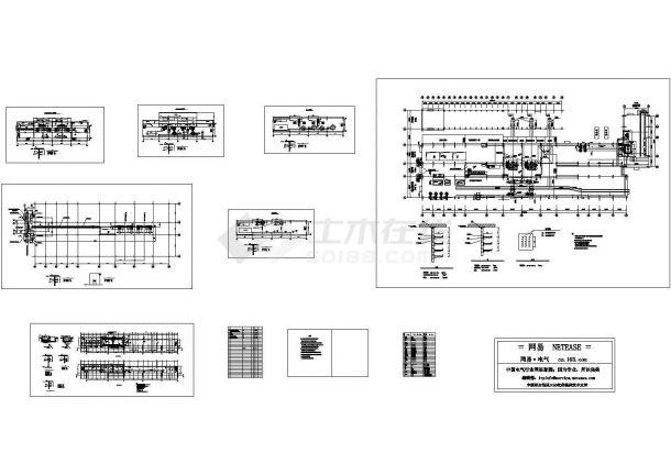 主控楼及电缆桥架布置电气图-图一