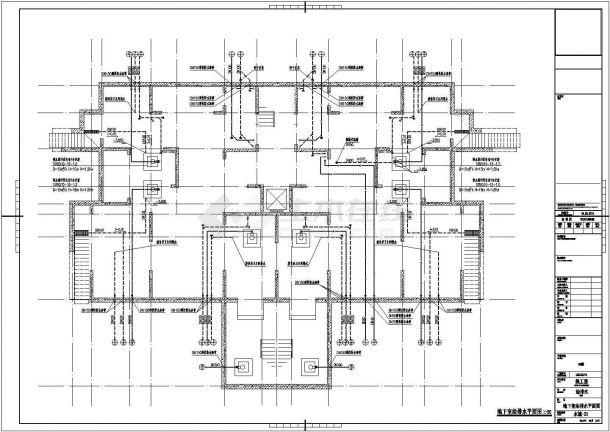 天津生态住宅小区给排水图纸(含计算书、中水系统、热水系统)-图二
