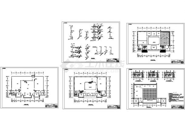 工艺美术展销中心建筑给排水施工图-图一