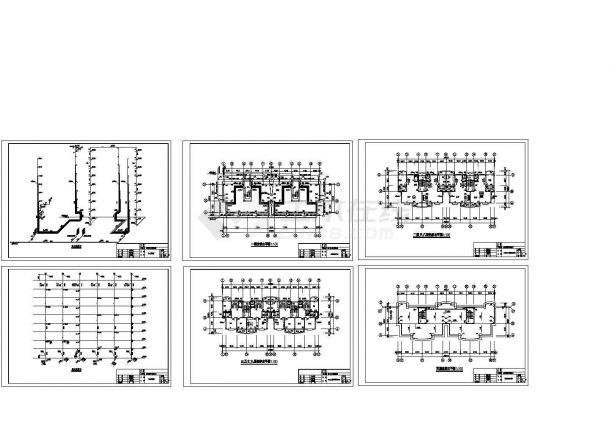 某县安居工程小区的复式住宅给排水设计图-图二