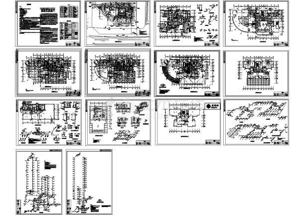 海南某高层综合楼给排水CAD设计图-图一