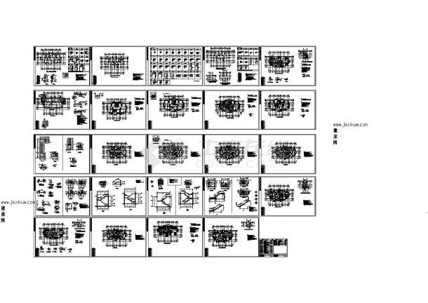 某高层纯剪力墙结构住宅楼设计cad全套结构施工图纸(甲级院设计,19张图)-图一