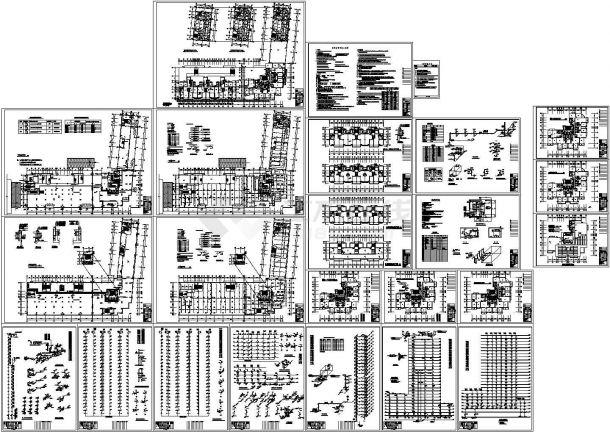 一类高层综合楼给排水CAD设计施工全图-图一