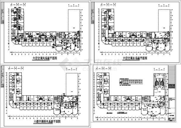 成都市某四星级酒店暖通空调设计cad施工图-图一
