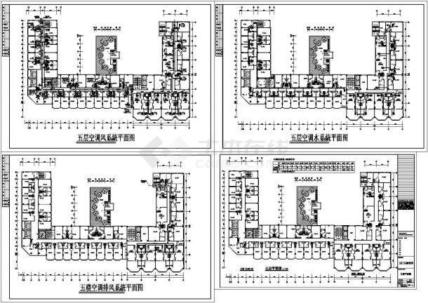 成都市某四星级酒店暖通空调设计cad施工图-图二
