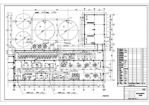 山西某锅炉给水系统设备基础平面布置图纸-图二