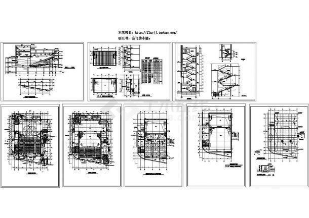 某地方三层影剧院全套建筑设计cad图纸-图一