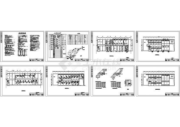 陕西某酒店暖通空调工程设计cad施工图-图二