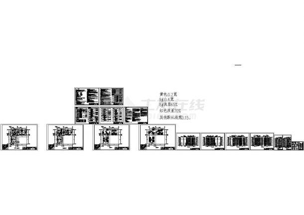 某核心地带新城居住小区住宅楼群建筑结构水电施工图-图一