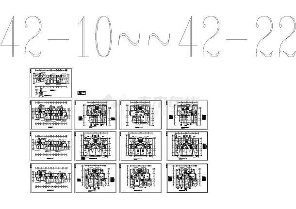 某豪华小区高层住宅楼电气设计CAD施工图-图二