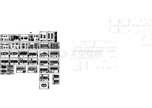某商业区高层住宅楼电气设计CAD施工图-图一